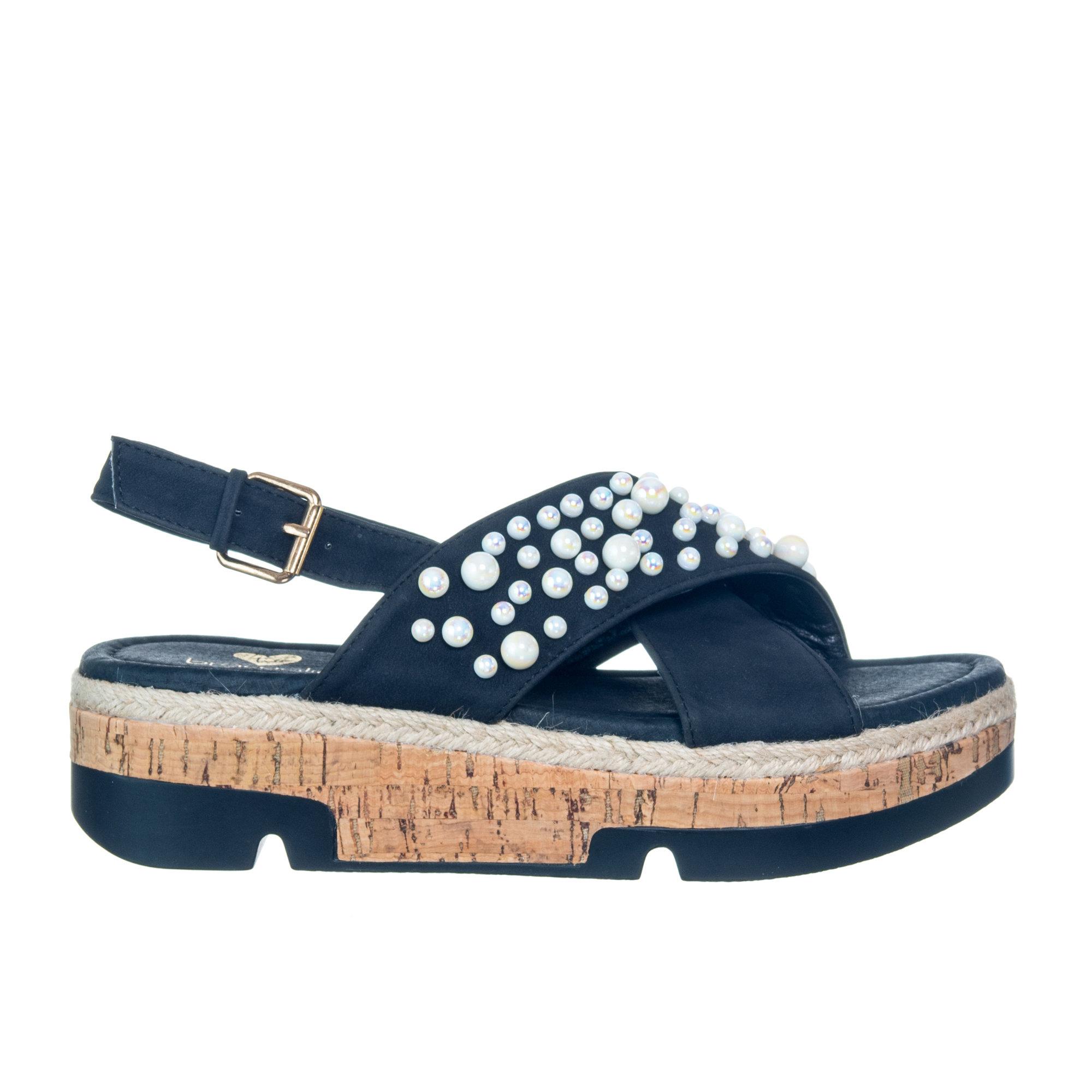 size 40 5eb1d bee6b Sandalo con decorazioni, nero - Braccialini Scarpe - Acquista su Ventis.