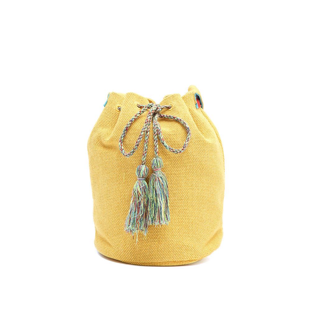 8bd768e4ea Borsa gialla a secchiello - Pinko - Acquista su Ventis.