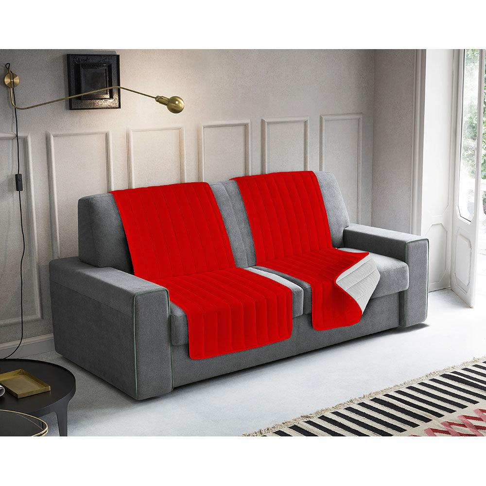 Divano Rosso E Grigio set 2 fasce copridivano proteggi-seduta, rosso/grigio chiaro - arreda il  tuo divano - acquista su ventis.