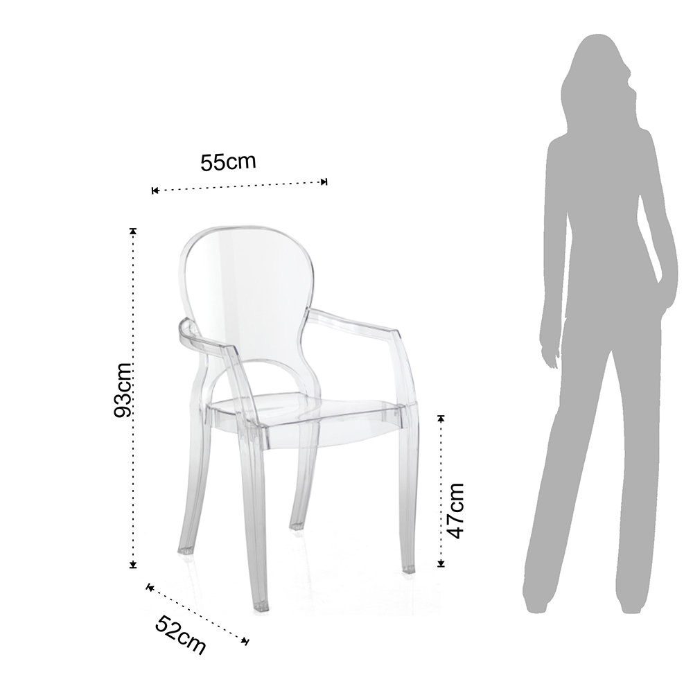 Set 2pz sedia con braccioli interno esterno focus in for Sedie outdoor design