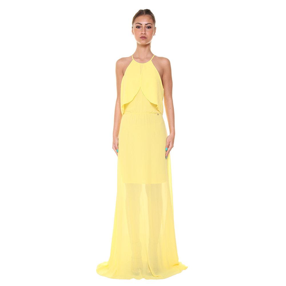 designer fashion 6edc6 f3e31 Abito lungo con balze giallo - Liu-Jo P/E - Acquista su Ventis.