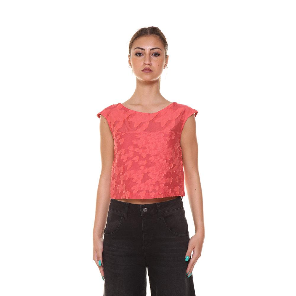 hot sale online 84250 071e8 Top smanicato con ricami corallo - Liu-Jo P/E - Acquista su Ventis.