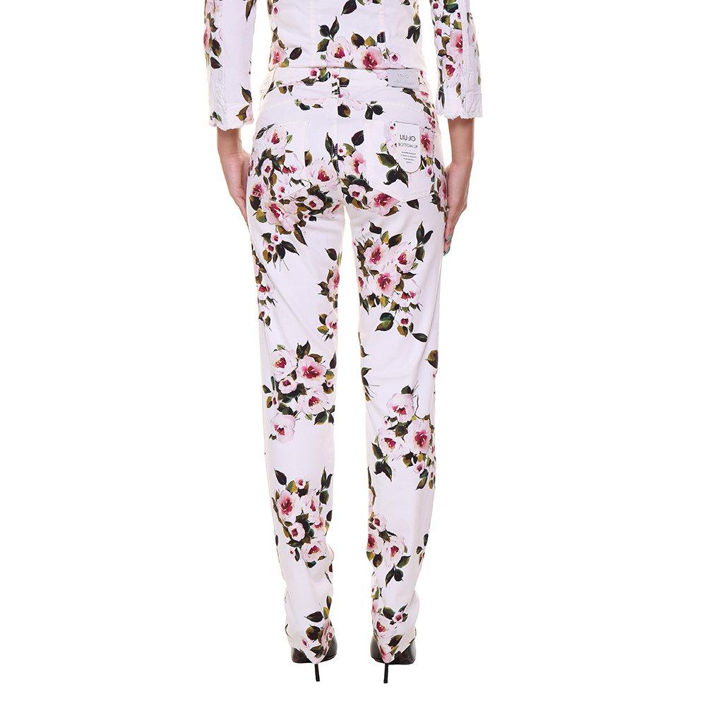 Pantaloni in cotone a fantasia bianchi - Liu-Jo P E - Acquista su ... 9a09ea09556