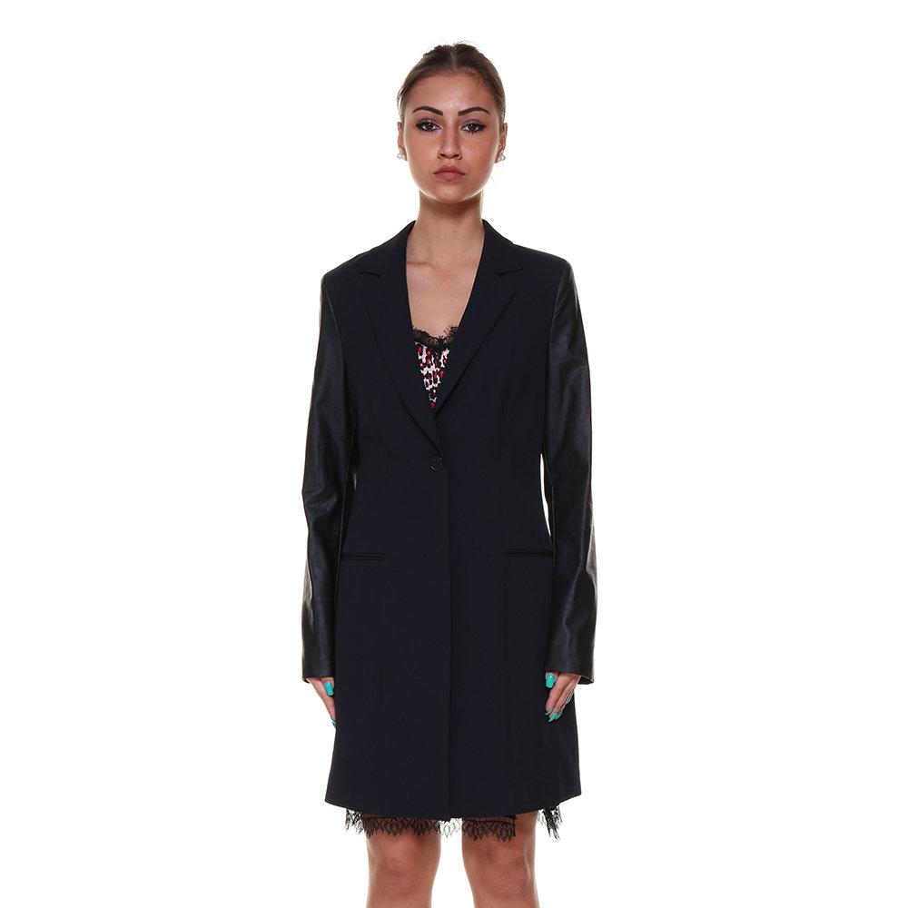 Cappotto con maniche a contrasto nero - Liu-Jo P E - Acquista su Ventis. 4fba7f18a4e