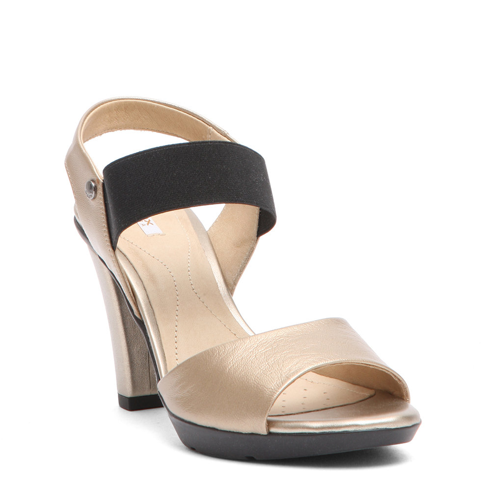 Sandali con tacco beige e nero GEOX SCARPE Acquista su Ventis.