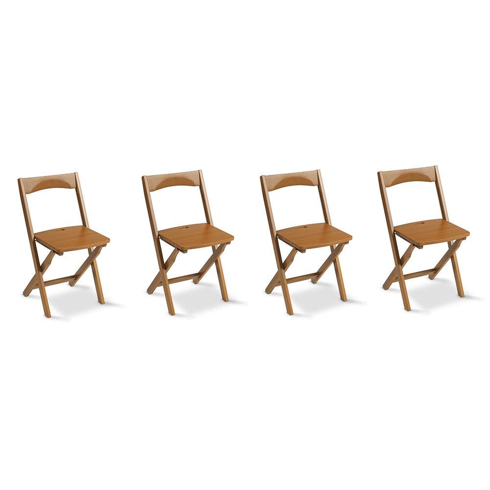 Set 4 sedie diana in legno chiudibili ciliegio for Arredamenti italia