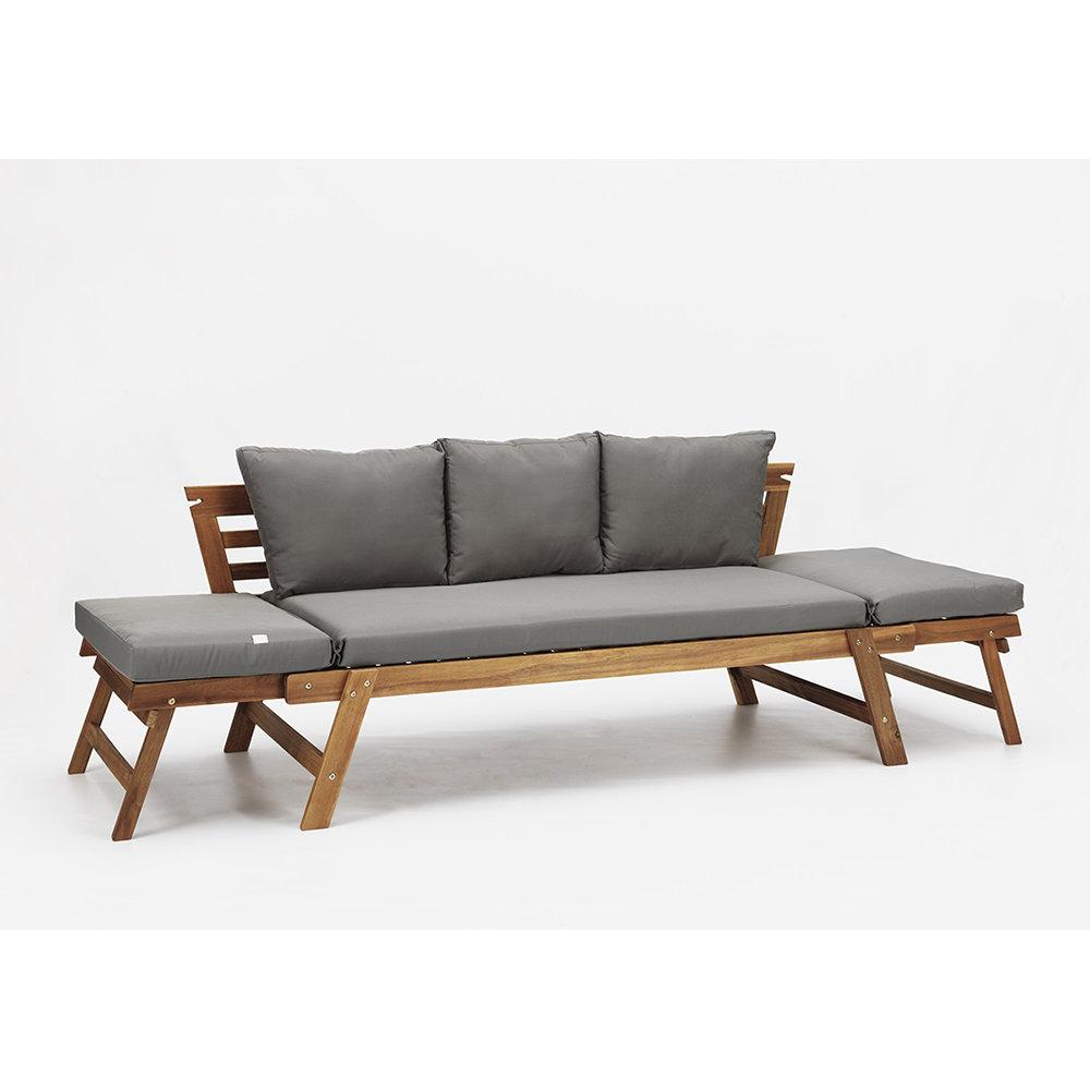 divano letto interno esterno valencia in legno di acacia