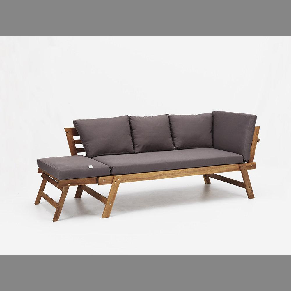 Divano letto interno esterno valencia in legno di acacia for Divano esterno legno