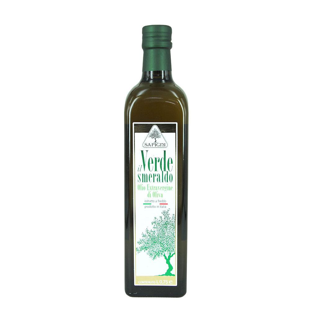6 bottiglie da 0,75 lt - Olio EVO Verde Smeraldo