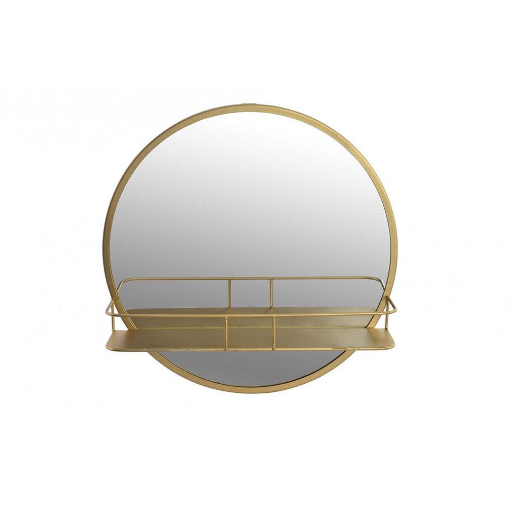 Specchio con mensola, oro - INTERIOR GEODI - Acquista su Ventis.
