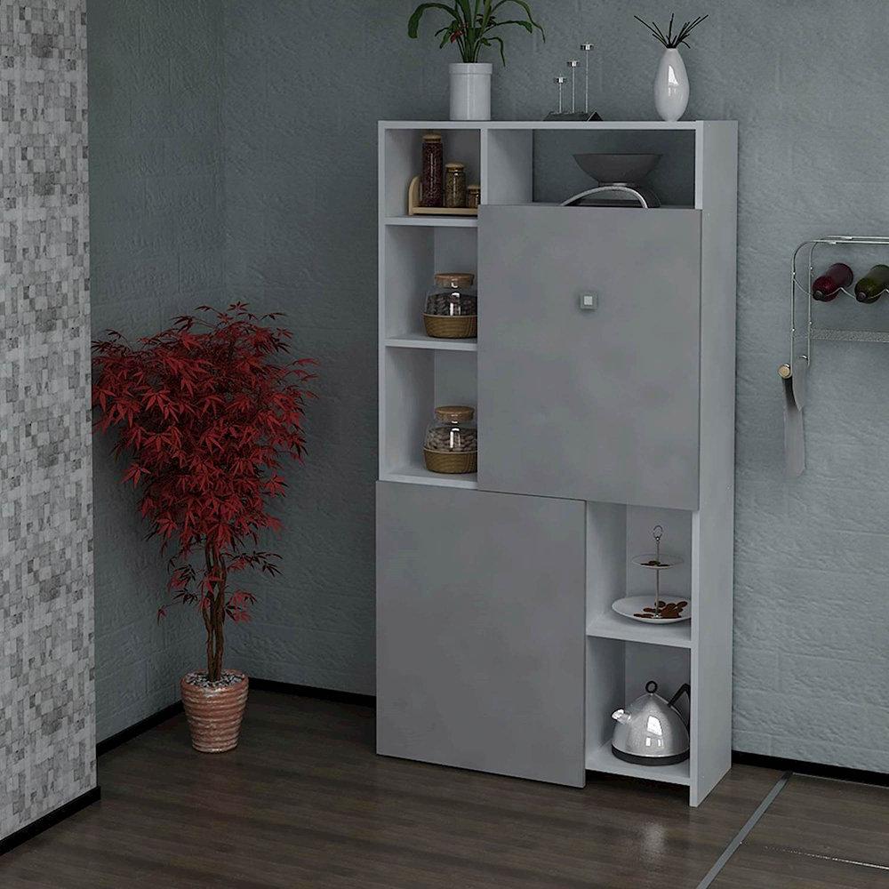 Armadio/consolle per cucina, grigio/bianco - Moderno che passione ...