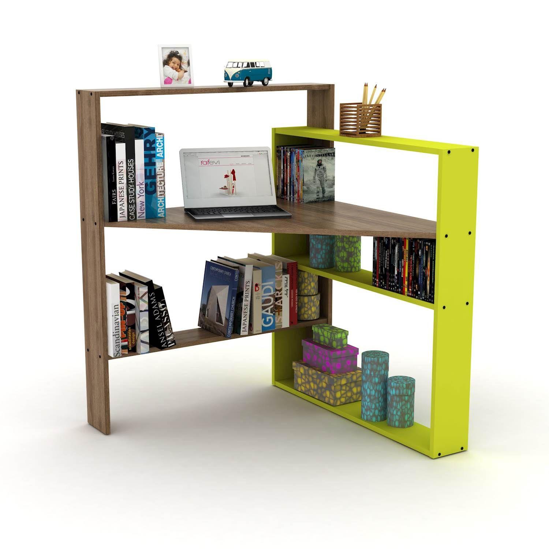 Libreria con scrivania pisagor noce verde saldi arredo for Arredamento saldi