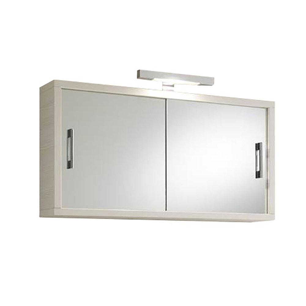 Specchio Con Contenitore Giava Pino Bianco Specchio Tft Bagno