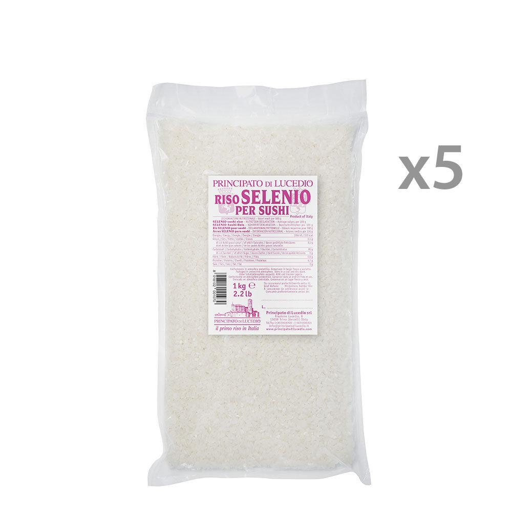 5 confezioni riso selenio per sushi 1 kg principato di for Cuocere 1 kg di riso