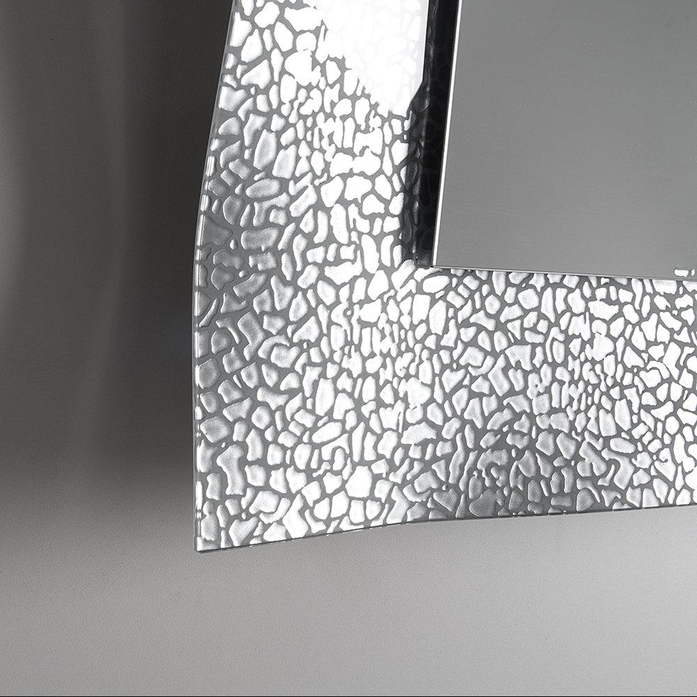 Specchio con cornice ondulata in vetro fuso, argento - TFT Arredo -  Acquista su Ventis.