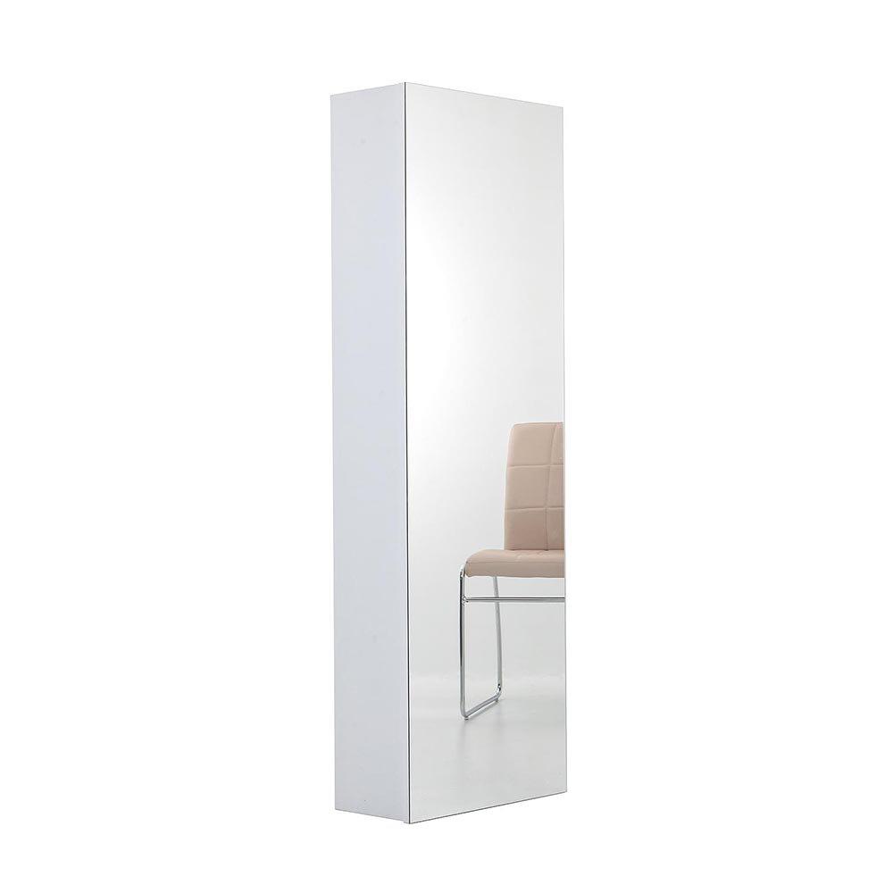 Scarpiera scaffale con specchio bianco tft arredo for Scarpiera con specchio ikea