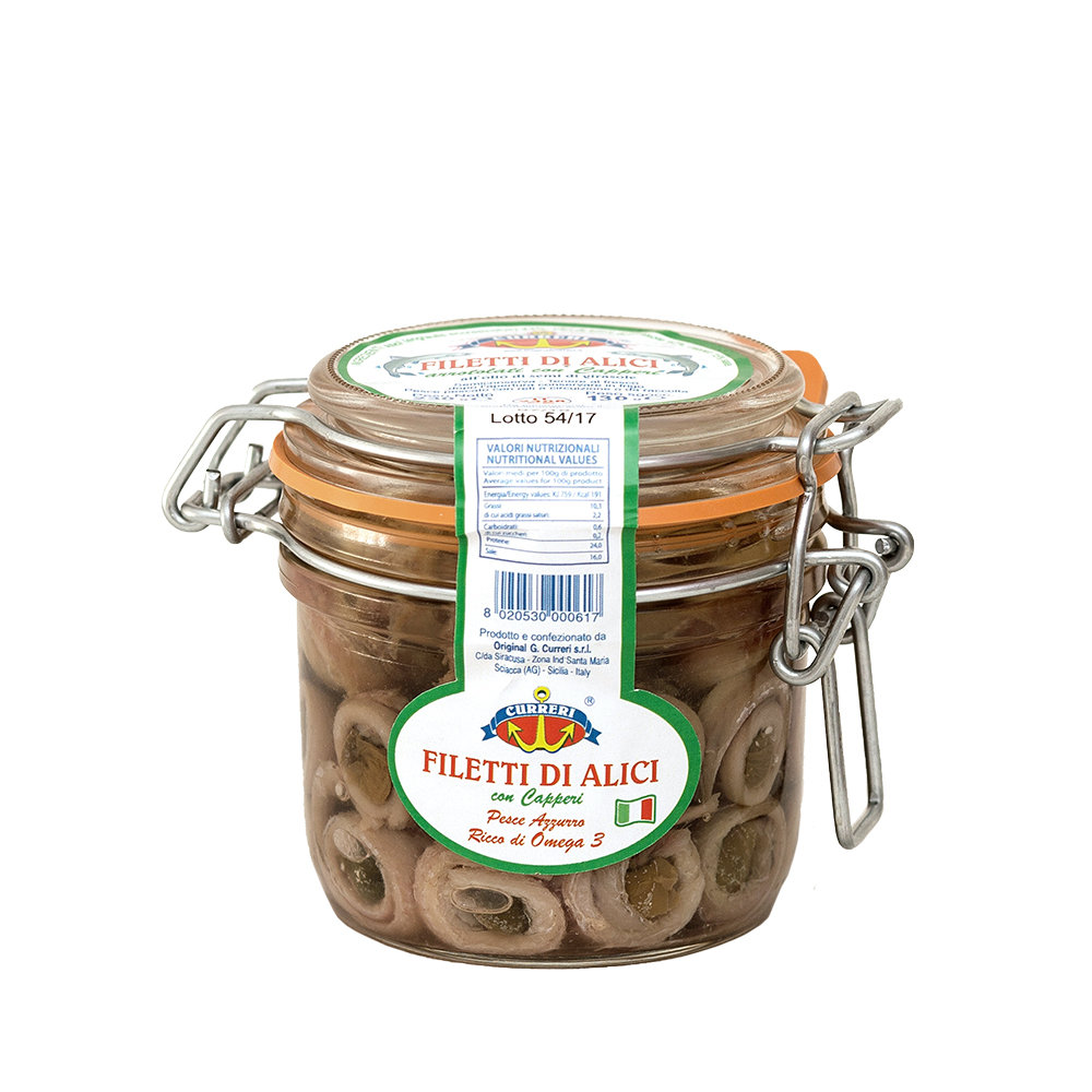 Filetti di Alici con Capperi - 6 vasetti 230 gr