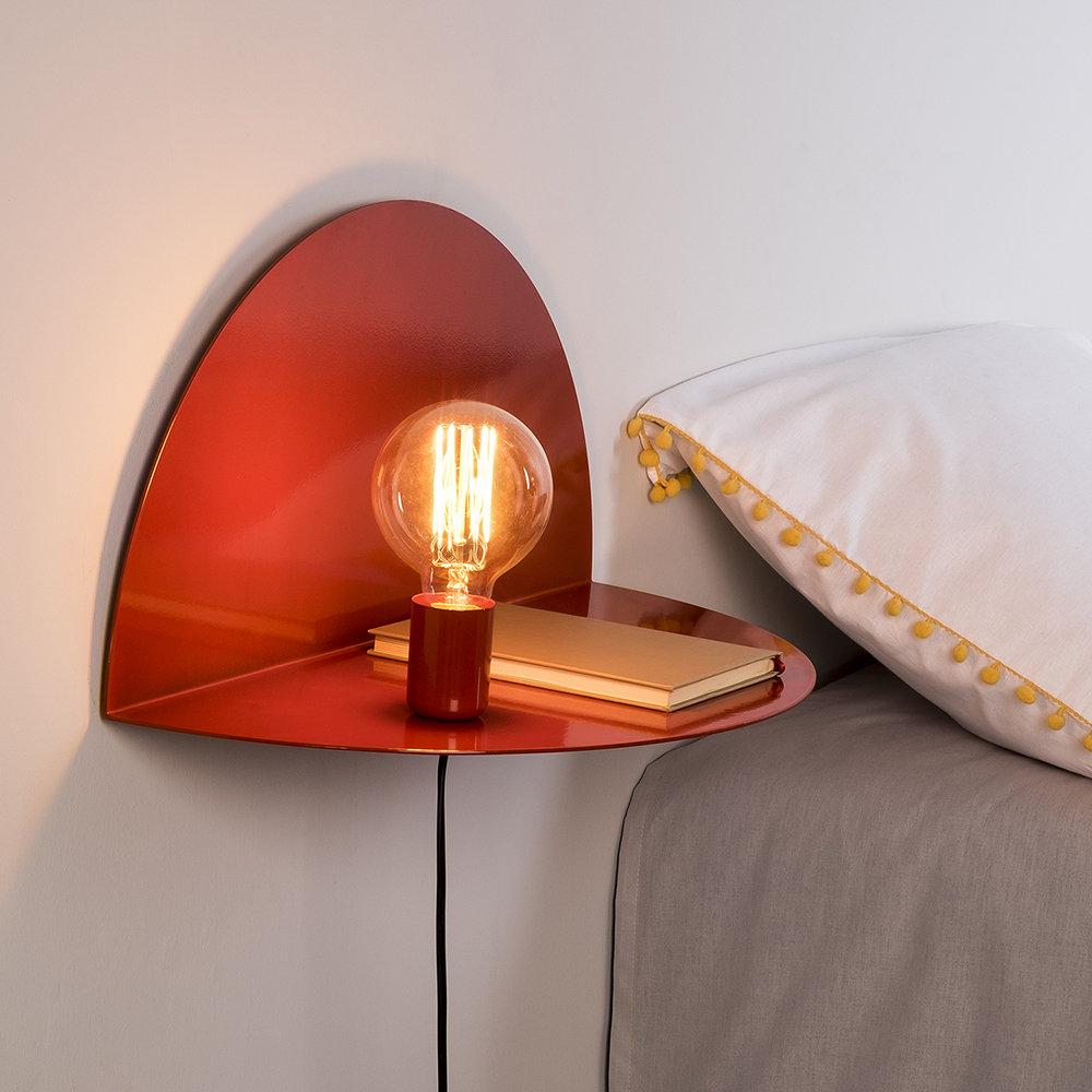 Lampada da parete large rosso luminoso arredo for Lampada arredo