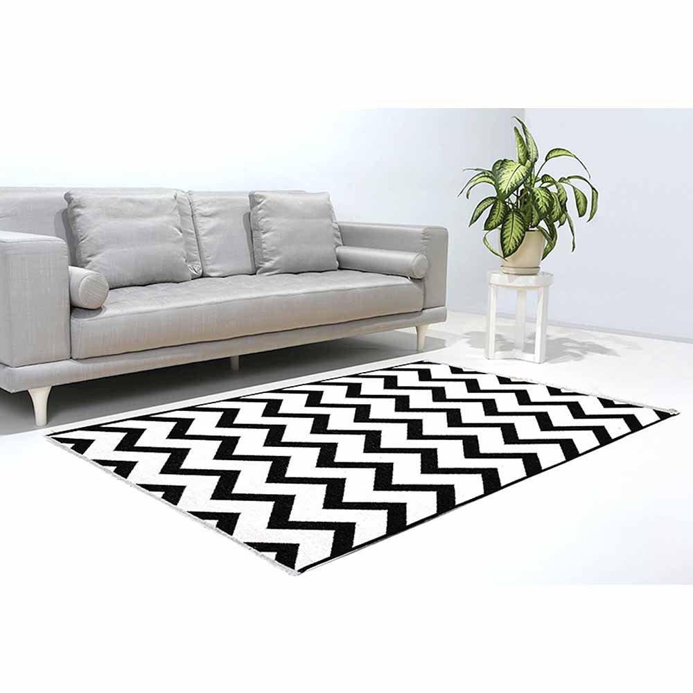 Tappeti moderni tappeto double face bianco e nero 155x230 - Tappeto bianco nero ...