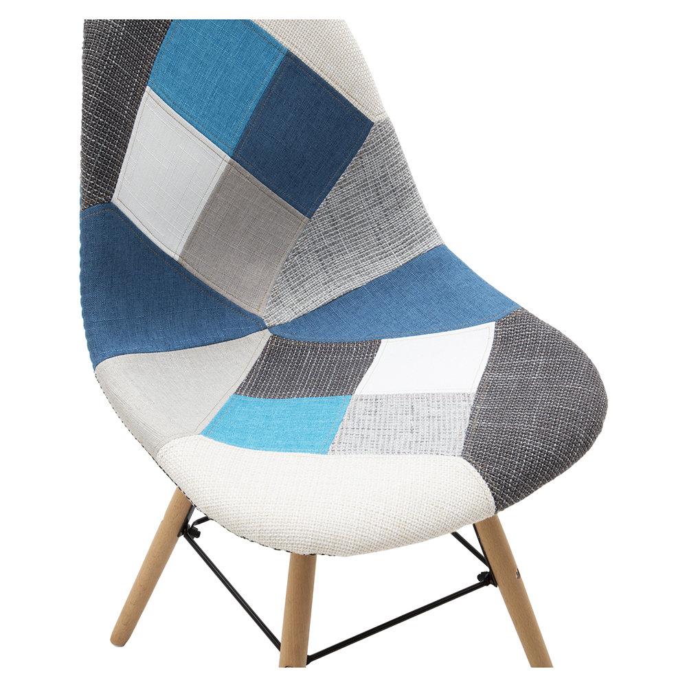 Set da 2 sedie, Patchwork grigia/azzurro - La Sedia perfetta
