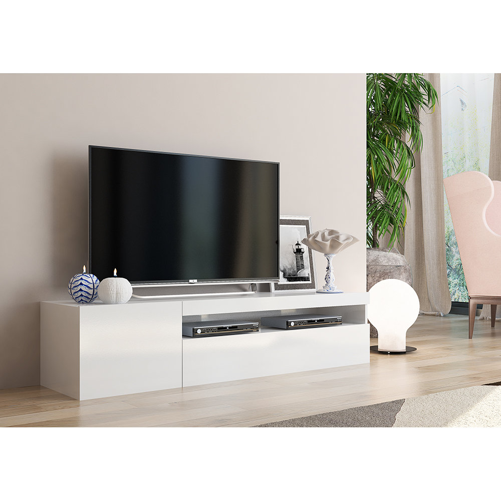 mobile porta tv bianco simple living acquista su ventis. Black Bedroom Furniture Sets. Home Design Ideas