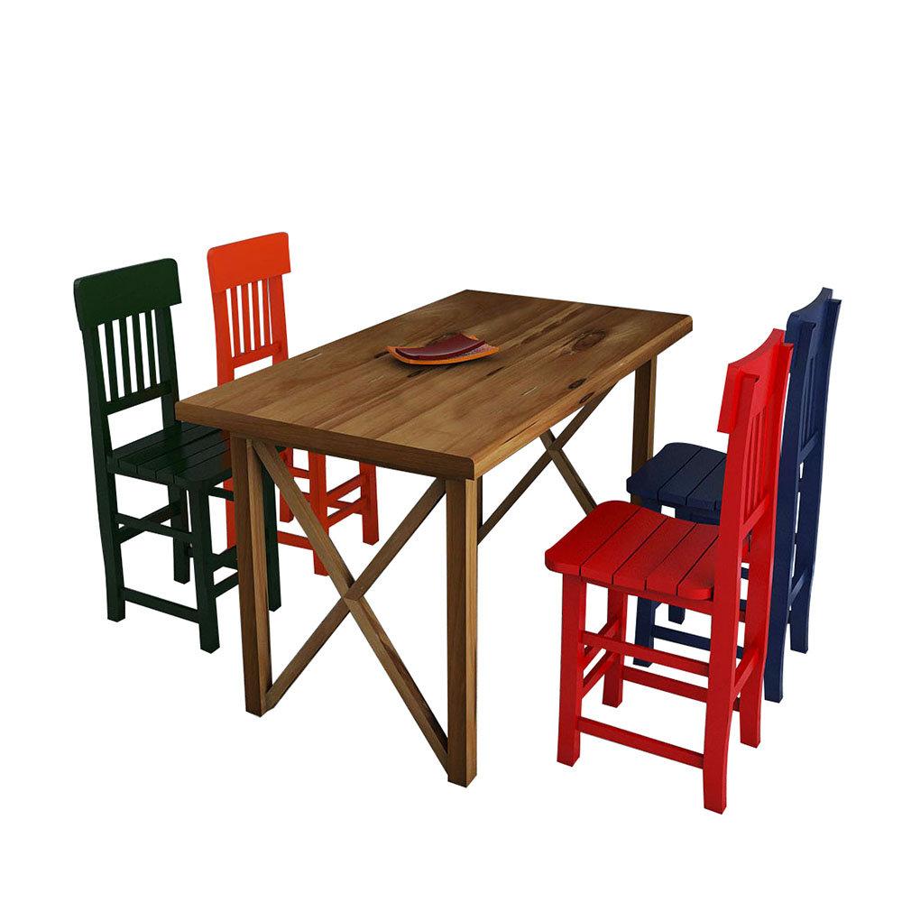 Tavoli E Sedie Vintage.Set Tavolo E Sedie Colorato Interior Vintage Acquista Su Ventis