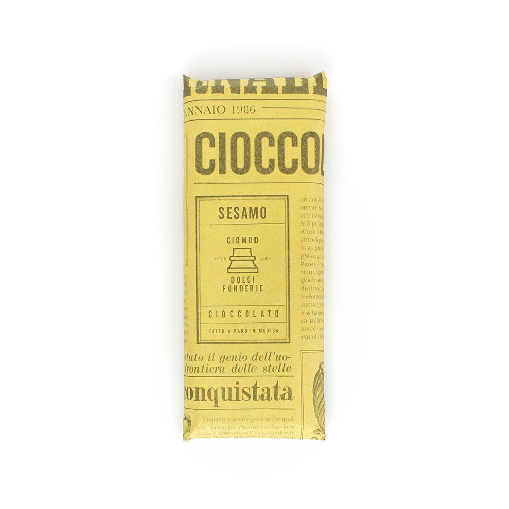 6 tavolette - Cioccolato con sesamo di Ispica 50 gr