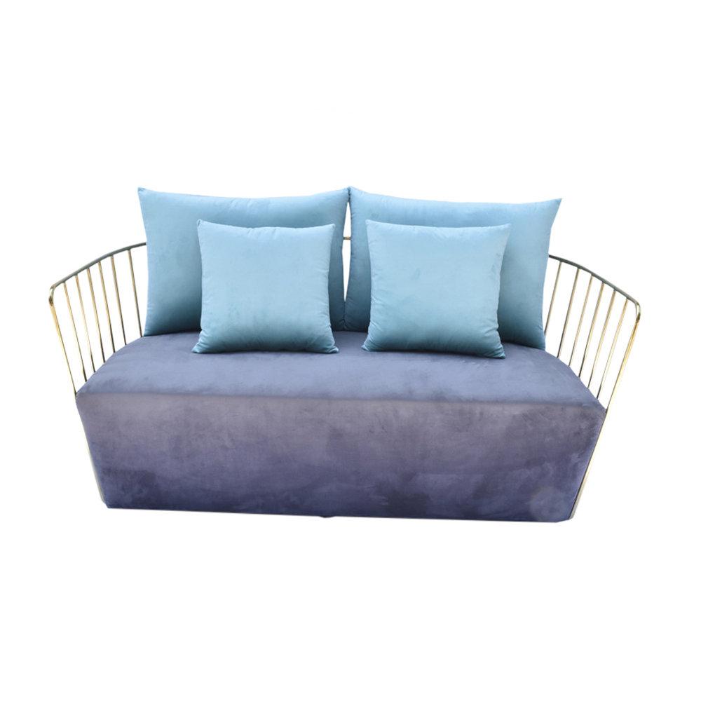 Divano Velluto Grigio : Divano posti in velluto grigio scuro azzurro braid