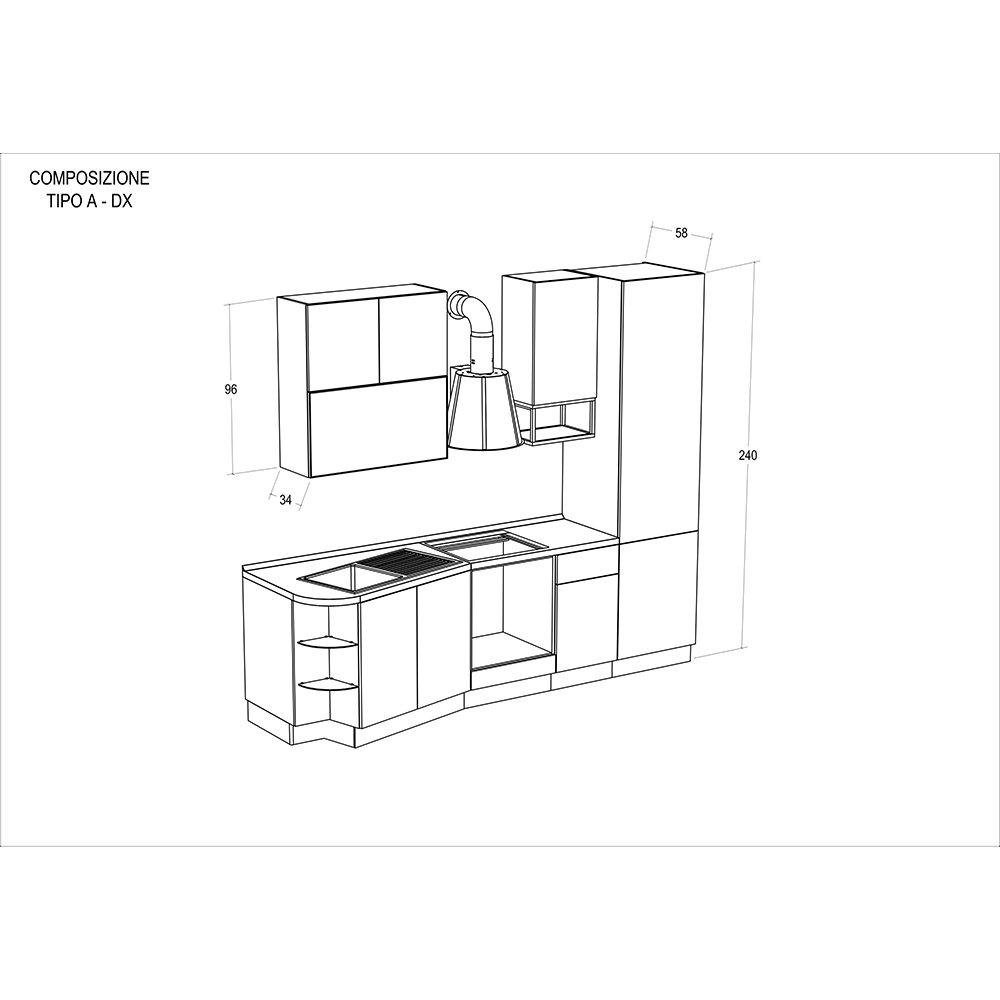 Cucina modello LILLY - composizione A destra - Cucine by Tomasucci ...