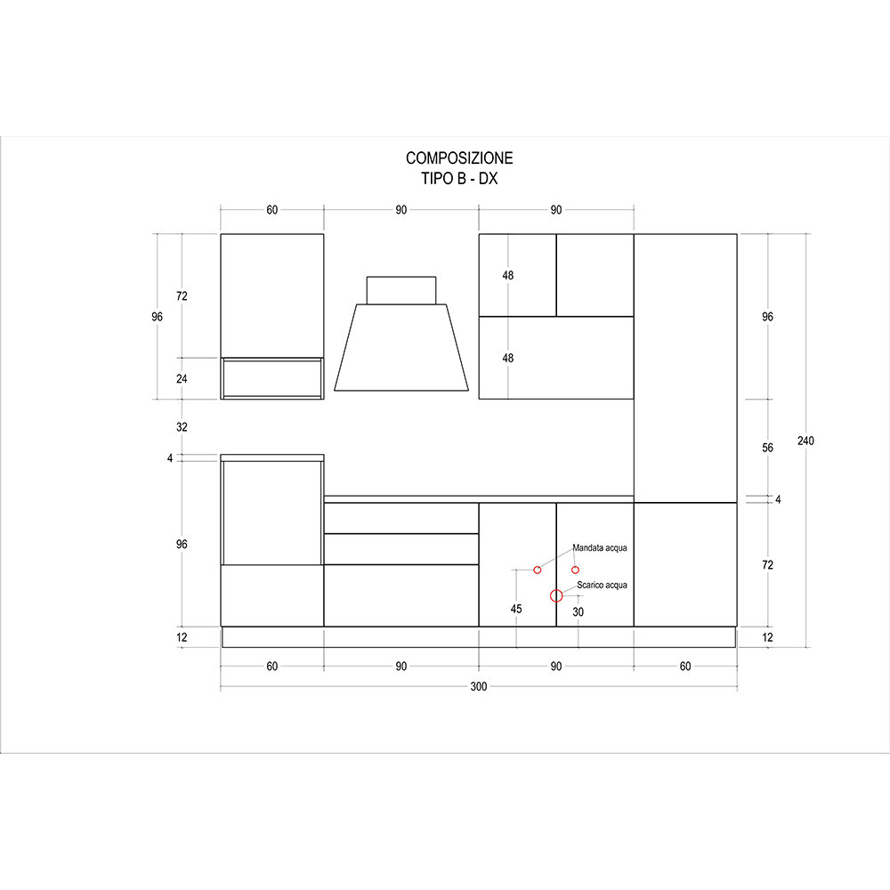 Cucina modello MARTA - composizione B destra - Cucine by Tomasucci ...