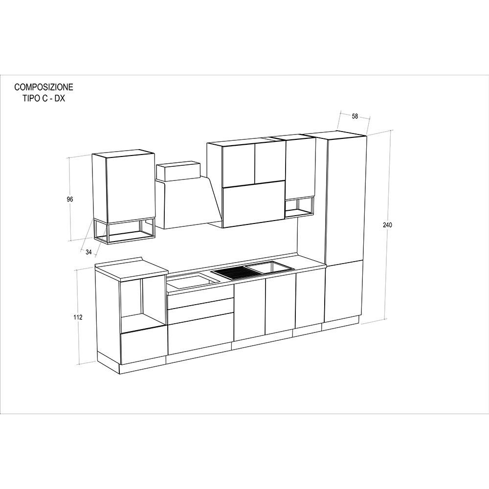 Cucina modello REBECCA - composizione C destra - Cucine by Tomasucci ...