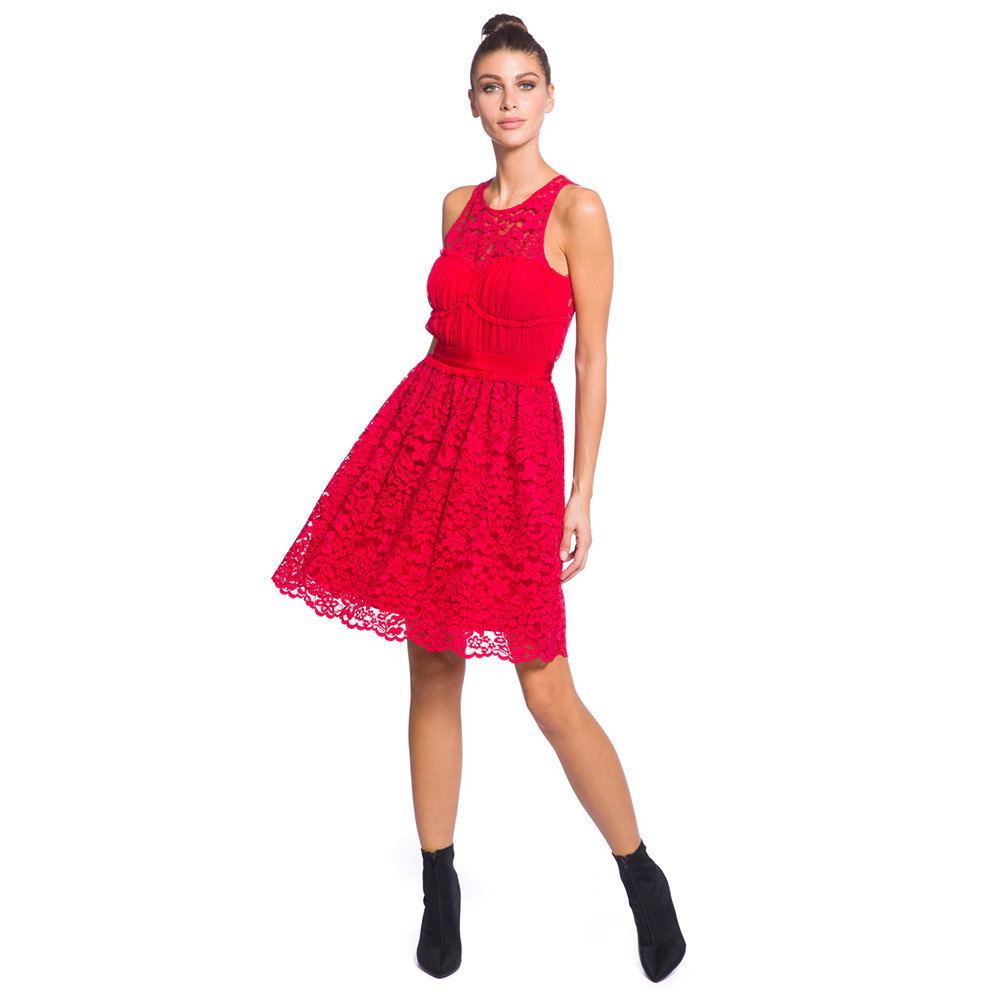 official photos 0faab 7a247 Abito con pizzo rosso - Pinko Selection - Acquista su Ventis.