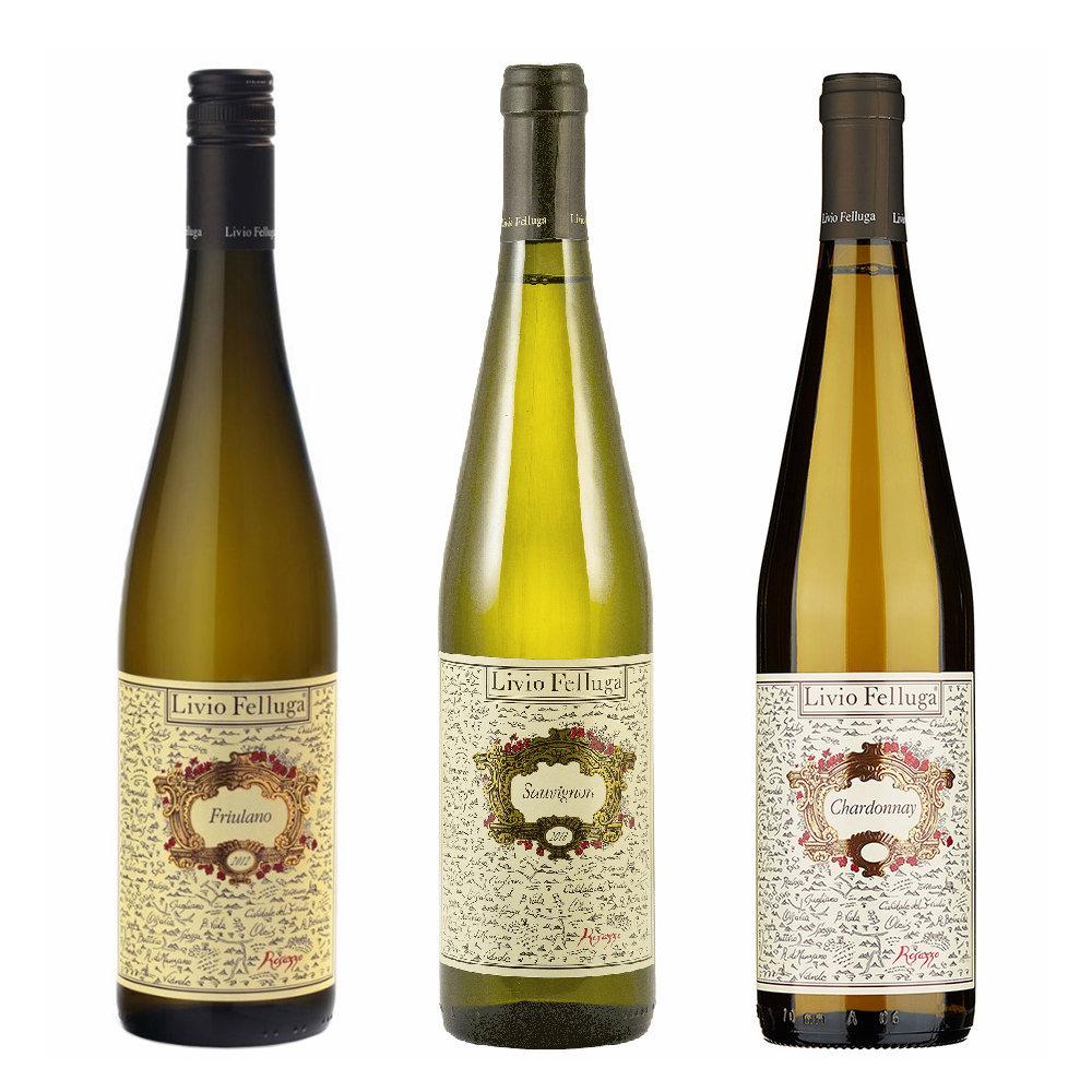 Image of 3 bottiglie miste: Friulano DOC 2019 - Sauvignon DOC 2019 - Chardonnay DOC 2019