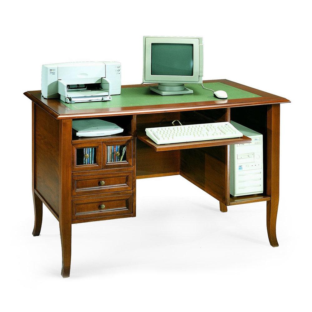 Scrittoio porta computer classico made in italy noce for Mondo convenienza scrivanie porta pc