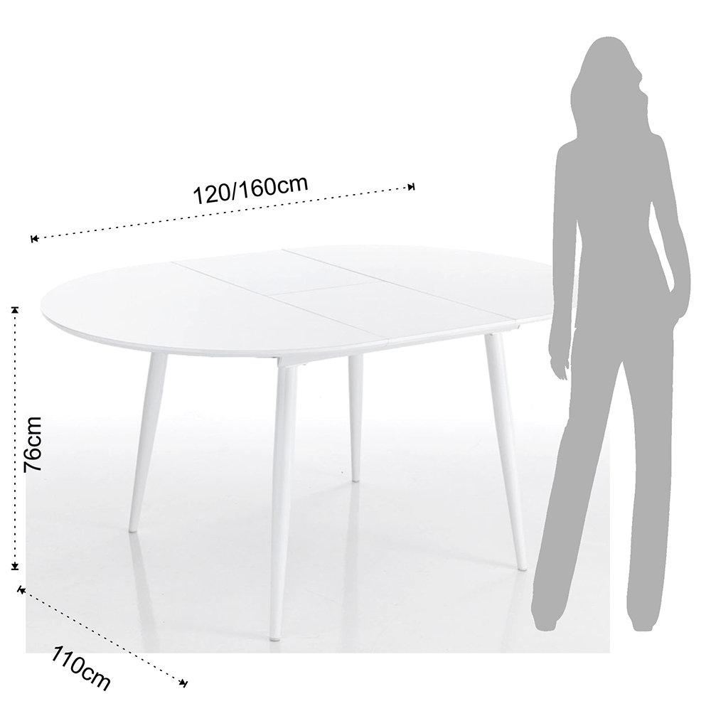Tavolo rotondo allungabile ASTRO ROUND - Giochi di bianco - Acquista ...