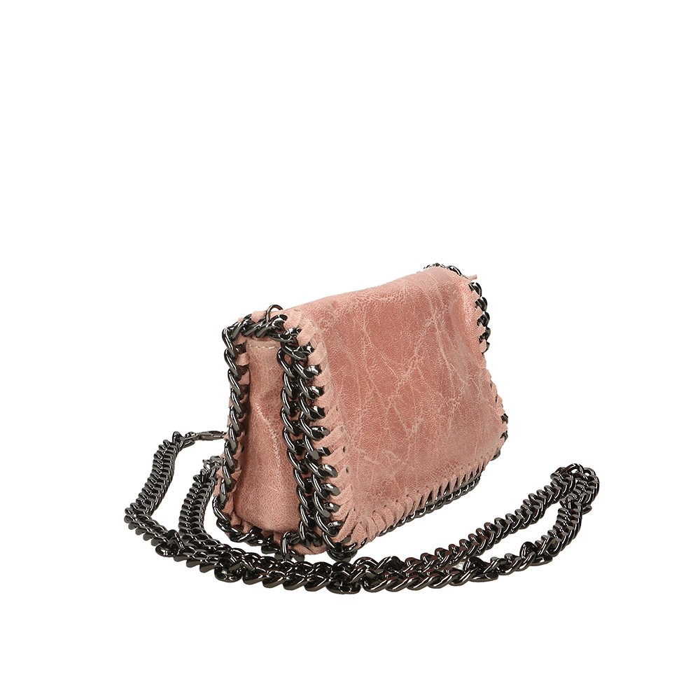 bbb6d32c7b Borsa a tracolla con catena rosa - Antichi Forzieri - Acquista su Ventis.