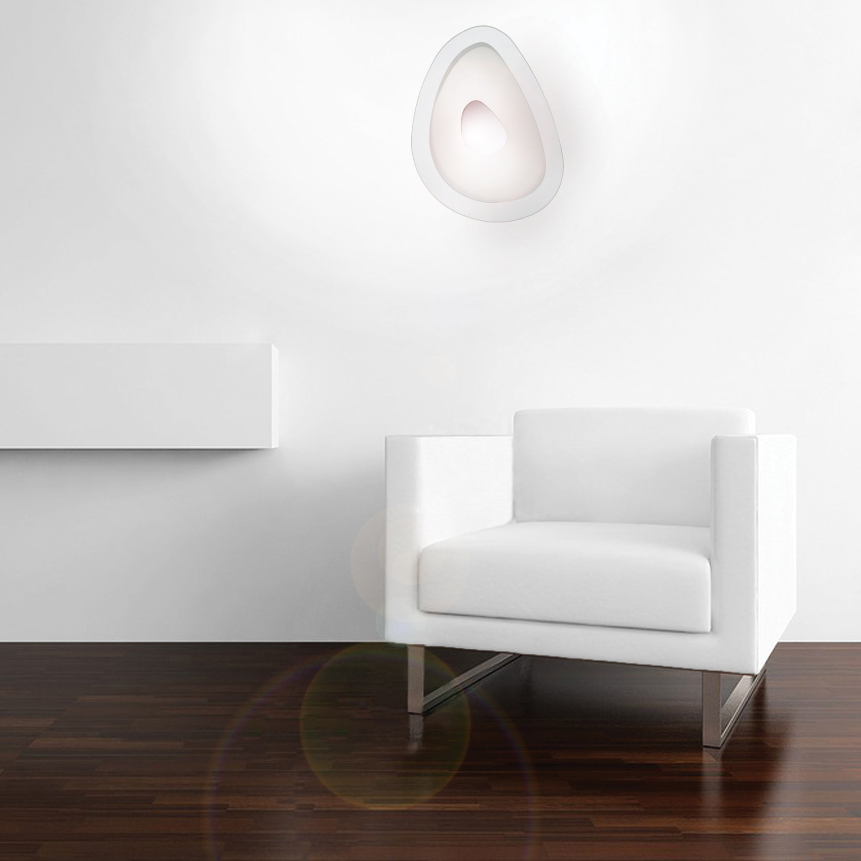 Lampada da parete soffitto bianco luci a parete for Luci parete