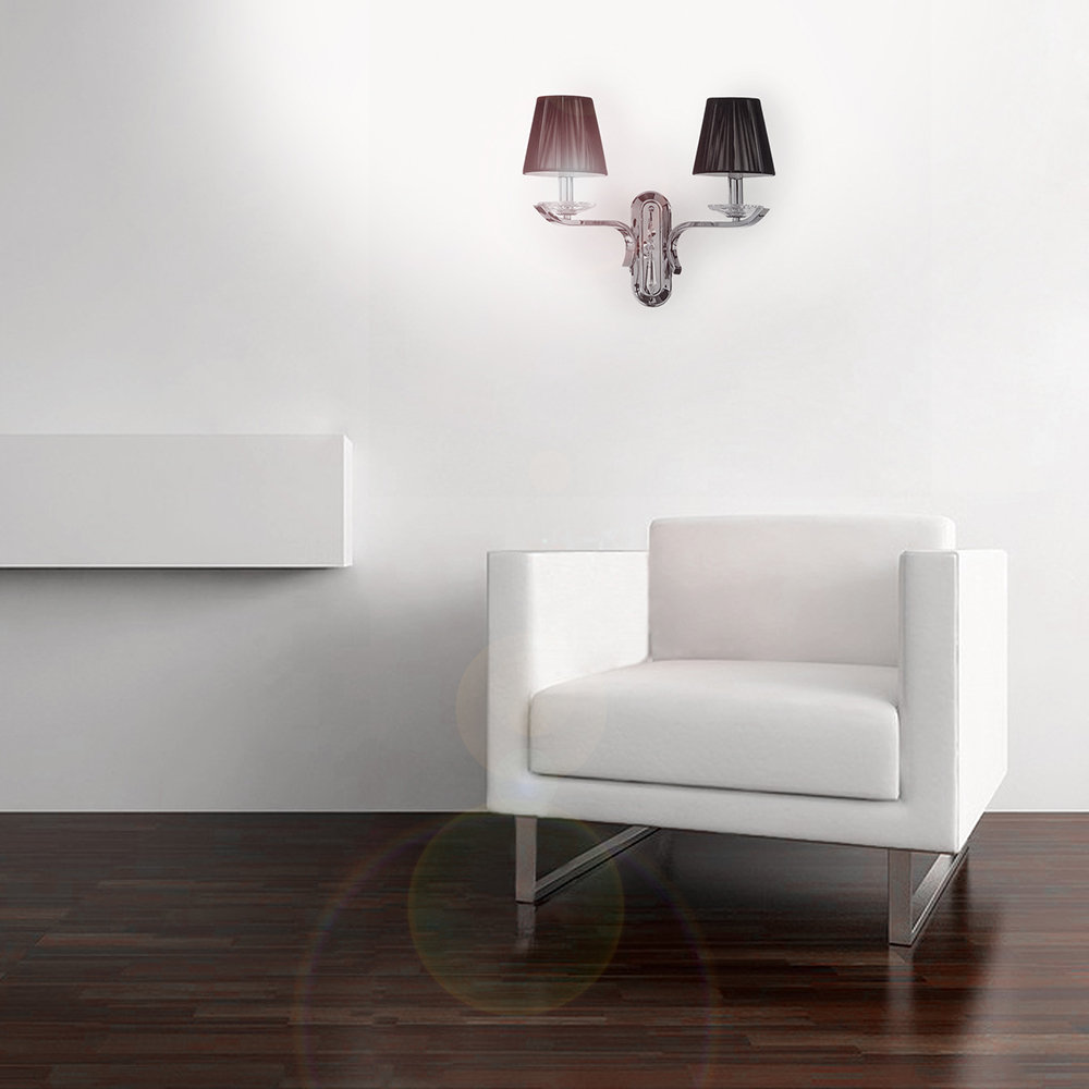 Lampada da parete nero luci a parete acquista su ventis for Luci parete