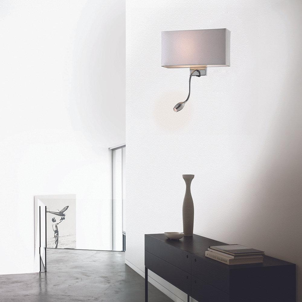 Lampada da parete bianco luci a parete acquista su for Luci parete