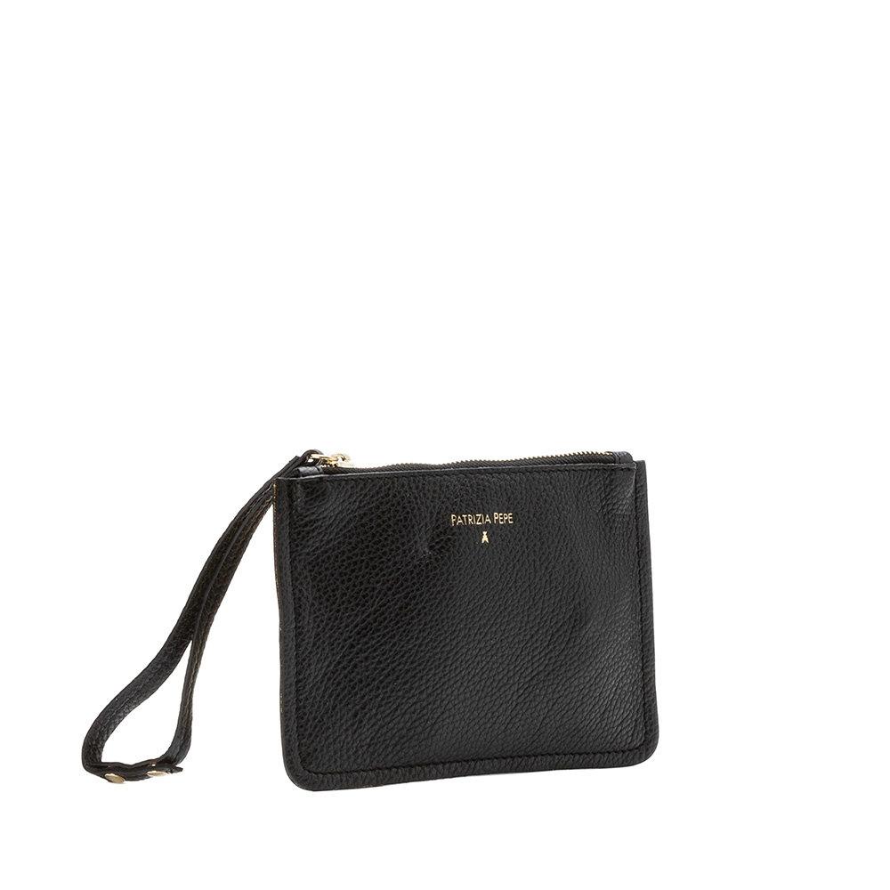 Mini pochette in pelle nera - Patrizia Pepe Scarpe e Borse - Acquista su  Ventis. 1199fd775f7