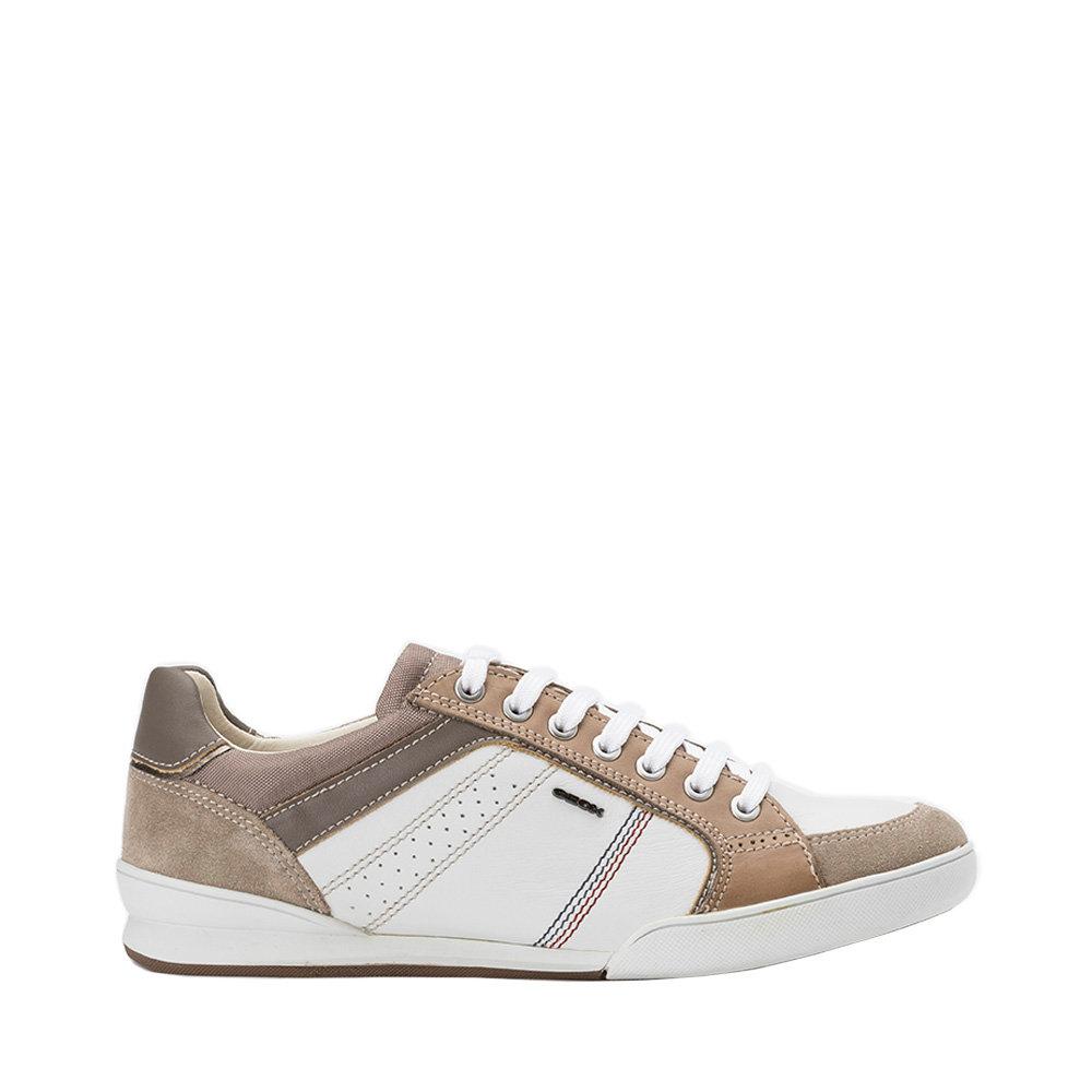Sneakers da uomo 'Kristof A' bianco e sabbia GEOX SCARPE