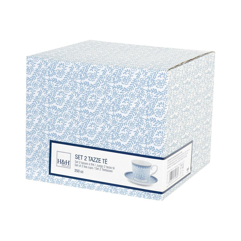 Confezione 2 tazze da Tè con piattino BLUE DREAM - Idee per