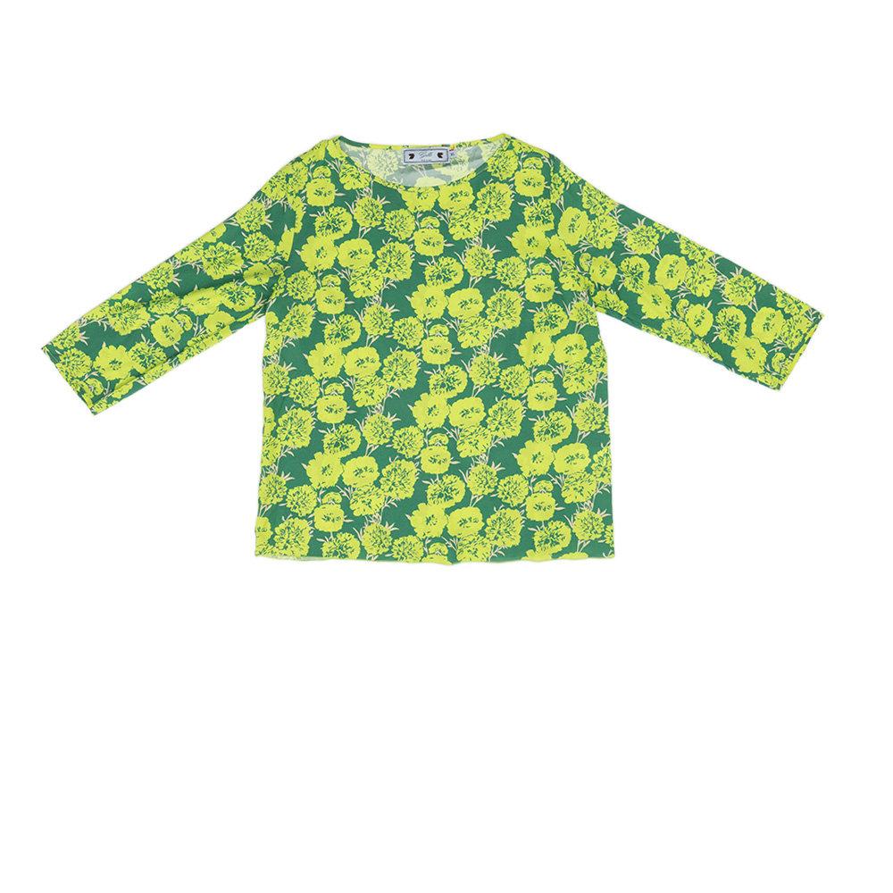 buy popular 88f87 260b8 Blusa da donna fantasia a fiori, verde - Gallo - Acquista su Ventis.
