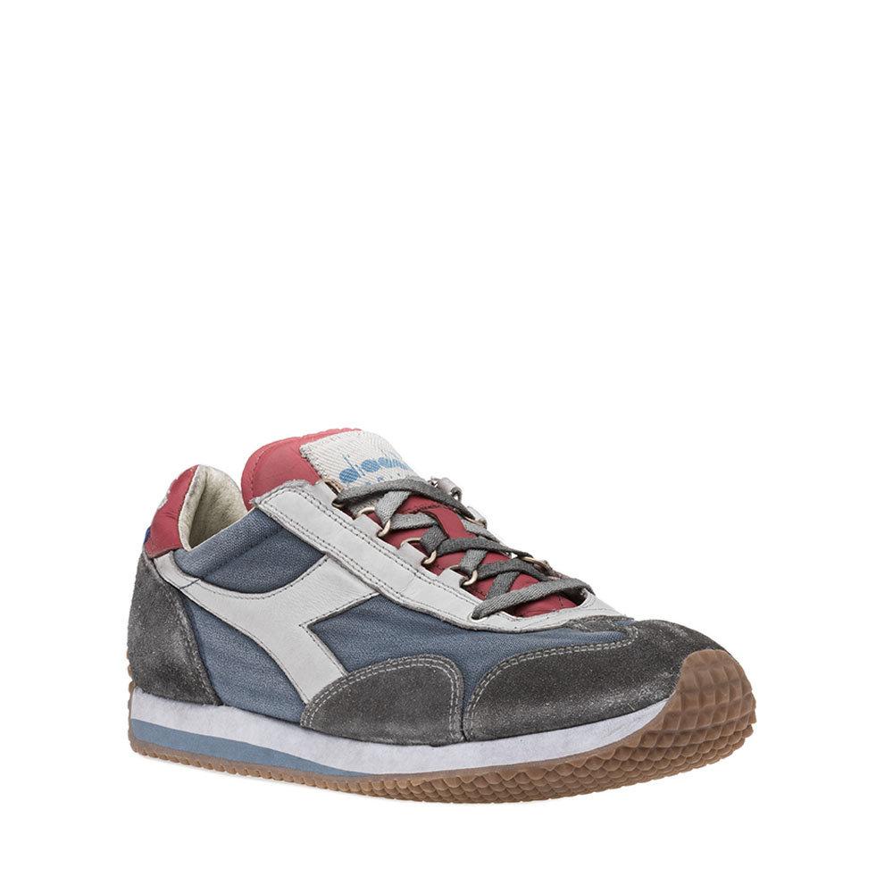 Sneakers Diadora da uomo ''Equipe H Dirty Stone Wash Evo'' blu e grigio Diadora Heritage Acquista su Ventis.