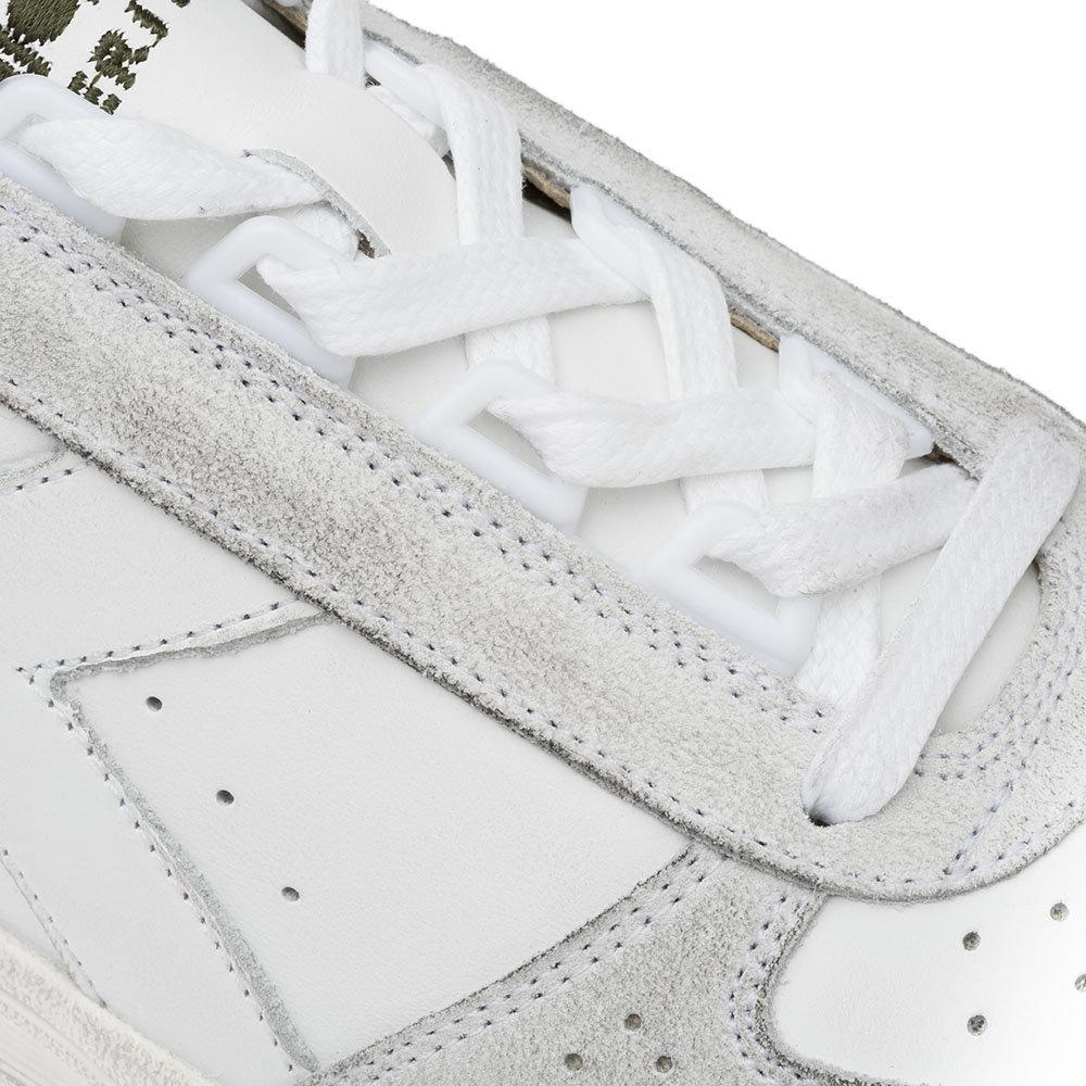 Sneakers Diadora da uomo ''B. Elite H Leather Dirty'' bianche e verdi Diadora Heritage Acquista su Ventis.