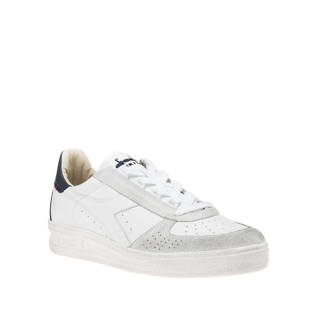 Sneakers Diadora da uomo ''B. Elite H Leather Dirty'' bianche e blu Diadora Heritage Acquista su Ventis.