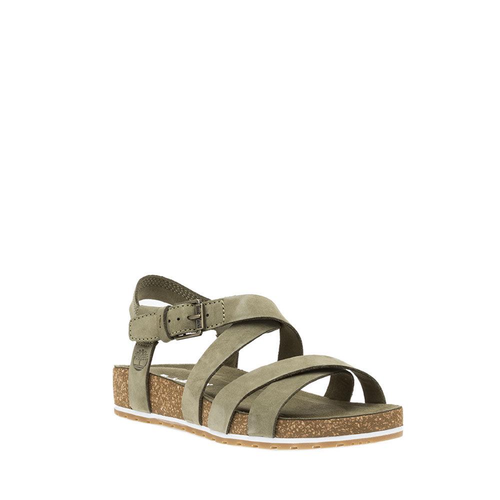 Alla moda Timberland Sandali con tacco oliva Scarpe da donna