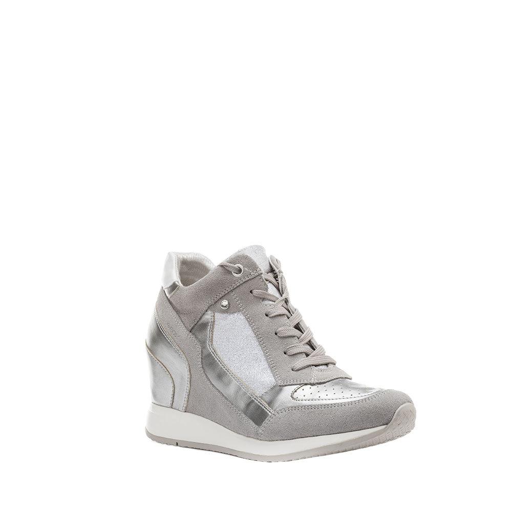 sneakers con zeppa interna grigie geox scarpe acquista su