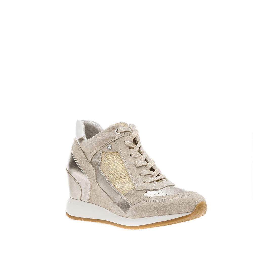 sneakers verdi con zeppa interna