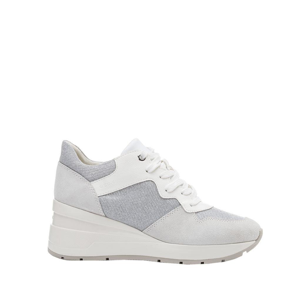 Sneaker Donna Geox in Ecopelle Bianca